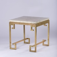 Marble Side Table Gold (Cleopatra)