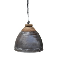 Washed Iron And Wood Lampshade
