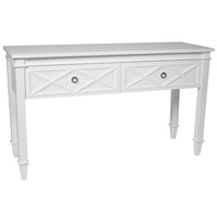 Plantation Console Table - White