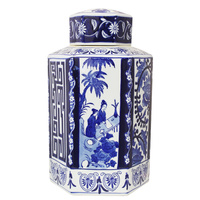 Ming Luxe Ceramic Ginger Jar Large
