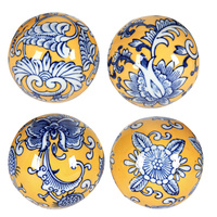 Geisha Balls Blue & Yellow