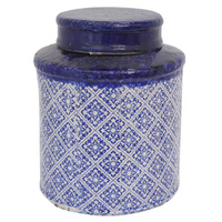 Fretwork Lidded Jar Medium