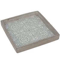 Mustique Square Tray Boxed in 6's