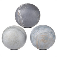 Jasper Grey Decorative Balls Set of 3