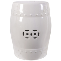 White Ceramic Stool