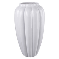 Ceramic White Bulb Vase Tall