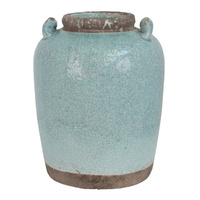 Antique Aqua Vase Tall