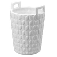 Basket Planter White