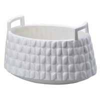 Basket Oval Planter White