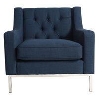 Montgomery Armchair French Navy