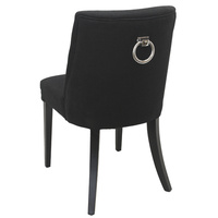 Philippe Dining Chair Grey Blue w/Black Legs