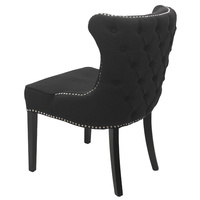 Thomas Upholstered Dining Chair Button back Black