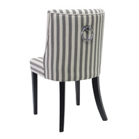 Ophelia Dining Chair Black & White Stripe