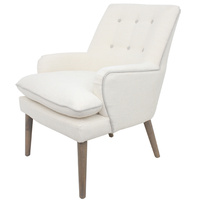 Bever Chair Ivory