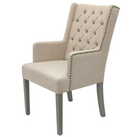 Essential Armed Dining Chair Taupe