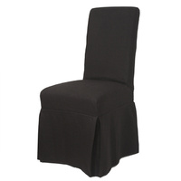Nantucket Slip Cover for Dining Chair Black