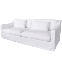 Nantucket Slip Cover for Sofa White