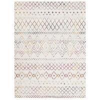 Meltem White Navy Runner Rug 300X80