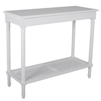 Polo Console Table painted White 110x40x90cmh