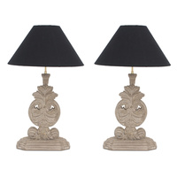 Buxus Pair of Lamps
