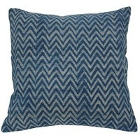 Faded Indigo Zig Zag Cushion