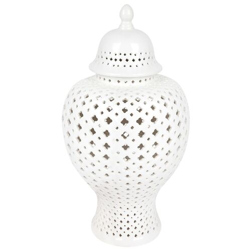 Minx Temple Jar - Large White