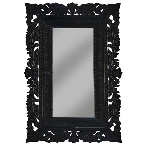 Luxury French Lace Black Mirror