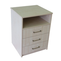 Hyacinth 3 Drawer & Shelf Bedside