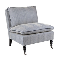 Candace Occasional Chair - Blue Chevron