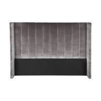 Central Park Winged Queen Headboard - Charcoal