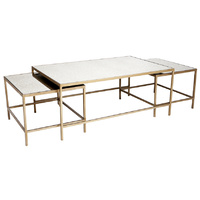 Cocktail Coffee Table - Antique 3pc