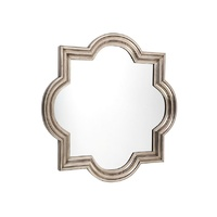 Marrakech Wall Mirror - Large Antique Silver
