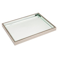 Zeta Tray - Large Antique Silver