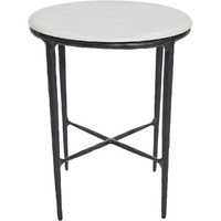 Heston Marble Side Table - Black
