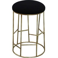Aiden Kitchen Stool - Black w Gold Frame
