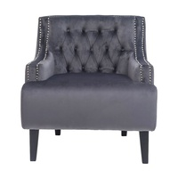 Skyler Tufted Occasional Chair - Charcoal