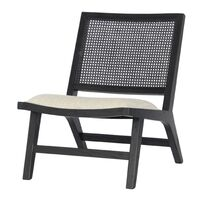 Palmer Rattan Occasional Chair - Black
