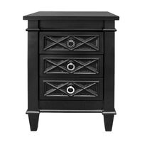 Plantation Bedside Table - Small Black