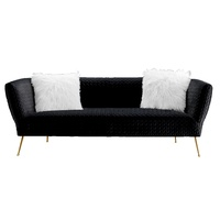 Zeta 3 Seater Sofa Black