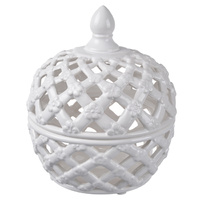 Lattice Decorative Lidded Jar