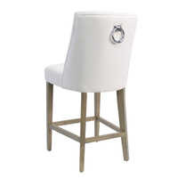 Ophelia Barstool White with chrome ring