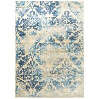 Shine Silver Transitional Rug 200x200cm