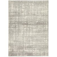 Glacier White Blue Transitional Rug 200x200cm