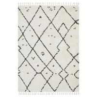 Dream White Silver Transitional Rug 330x240cm