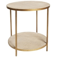 Manhattan Rattan Rnd Lamp Table Gld