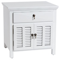 Louvre Bedside Table White