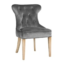 Lotus Uph Dining Chair Charcoal