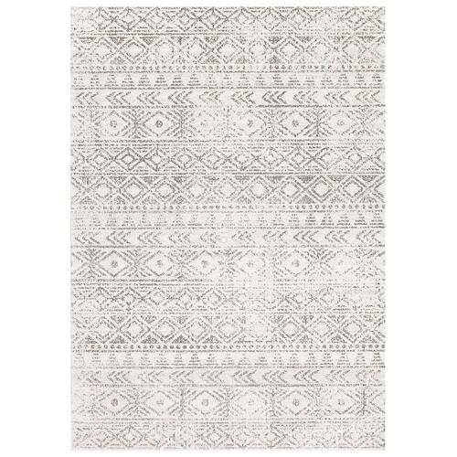 Dream White Silver Transitional Rug 150x150cm